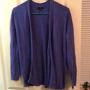 Gap purple cardigan